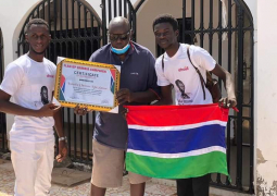 Flag up Gambia