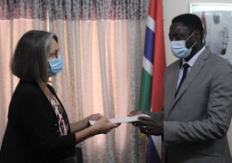 Gloria Poku and Dr Mamadou Tangara