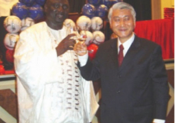 foreign minister and taiwanese ambassador