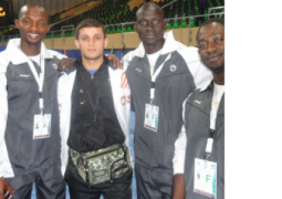 gwa boss musa koteh posed with his gambian athletes