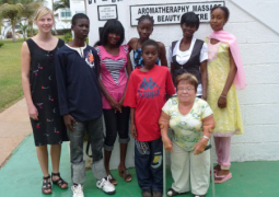 kirsten ronhoff hansen with her sponsored students