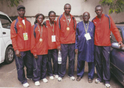 gambian junior athletes with gaa president