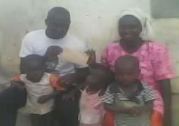 needy family receiving gesture