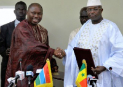 foreign affairs minister njie l with his senegalese counterpart cisse r