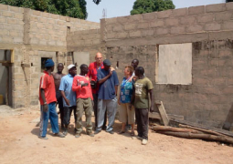 officials at the nursery school under construction