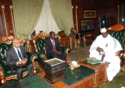 infini africa group ceo holds talks with president jammeh