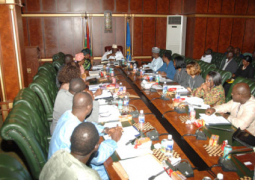jammeh with food security and disaster management stakeholders