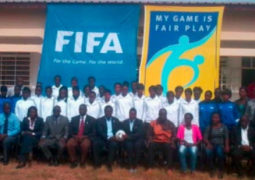 fifa particpants with dignitaries