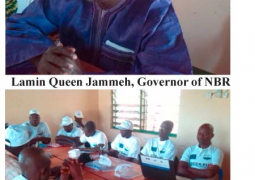 lamin queen jammeh with participants