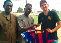 momodou dibba with messi