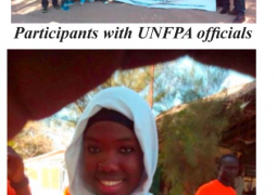 unfpa officials with participants