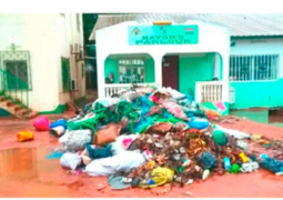 yankuba colley parlour with garbage and waste 1