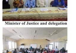 justice minister and delegation